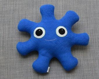Royal Blue Fleece Stuffed Monster, Logan