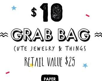 Cute Jewelry Grab Bag, Surprise Grab Bag, Mystery Grab Bag