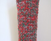 Ready To Ship Crochet Christmas Wine Tote - Crochet Wine Carrier  - Christmas Crocheted Wine Bottle Carrier