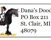 Friesian Horse Return Address Labels -120