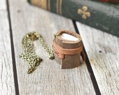 Mini Leather Journal Necklace - Book Jewelry