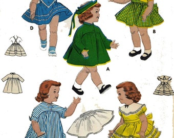 Saucy Walker Bonny Braids Susan Stroller by Ideal DOLL Clothes PATTERN 7157 for size 23 inch dolls