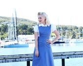 40's Pinafore Skirt in Light Blue