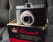 1960's Coronet 4 x 4 Mark II Camera with Box & Case