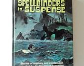 vintage book, Hitchcock's spellbinders in suspense, mystery-suspense stories, 1967, illustrated hardback