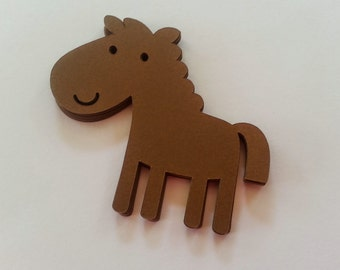 A horse, of course! Happy Horse die cuts in dark brown