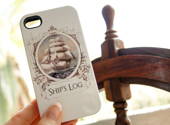 iPhone Case Nautical - Ship's Log iPhone 5S Case, Travel iPhone 5C Case iPhone 6 Case, Sail Boat iPhone 6 Plus