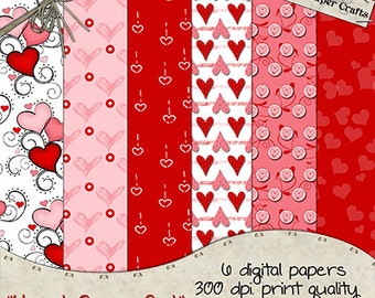 Heart Crazy - Digital Papers