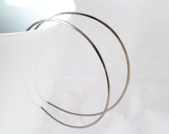 Large Hoop Earrings, Niobium Hoop Earrings, nickel Free Earrings, Reverse Hoops