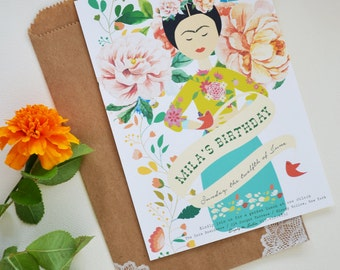 Frida Party Invitation , Digital Printable DIY Invite