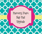 "1.5"", or 2"" Memory Foam Nap Mat Upgrade"