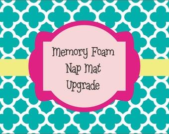 """1.5"""", or 2"""" Memory Foam Nap Mat Upgrade"""