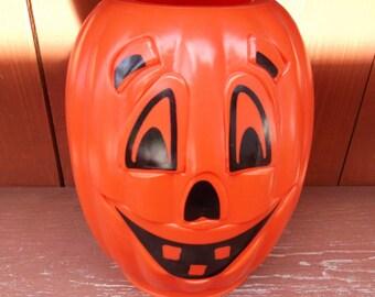Vintage Blow Mold Halloween Pumpkin Tiki Torch Cover RARE!