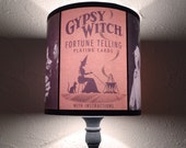 Salem Witch Obscure Fate lamp shade lampshade - lighting, occult decor, witchcraft, boho,bohemian decor, fortune teller, palmistry reading