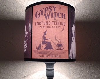 Salem Witch Obscure Fate lamp shade lampshade - lighting, witchcraft, halloween decor, boho,bohemian decor,fortune teller, palmistry reading