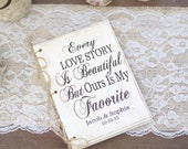 Personalized Rustic Wedding Guest Book Hipster Bridal Shower Keepsake Typography (Item Number MMHDSR10061)