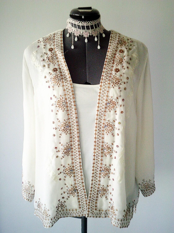 beaded jacket bohemian clothing sequin jacket embroidered. Black Bedroom Furniture Sets. Home Design Ideas