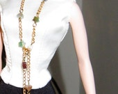 Barbie Silkstone Beaded Necklace/belt and Earrings for 11.5 inch dolls