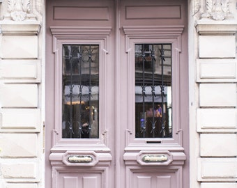 Paris Photography - Mauve Door on Rue Condorcet, Architecture Photography, Travel Fine Art Photograph, French Home Decor, Large Wall Art