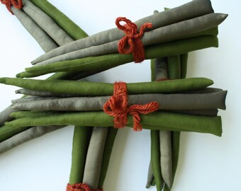 Asparagus Play Food from Recycled Fabrics