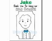Wedding Coloring Book - Ring Bearer Activity book, Wedding Activity book for BOYS! - Kids Favor -Printable book - Ring Bearer Gift