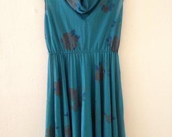 Vintage Shear Jade Dress