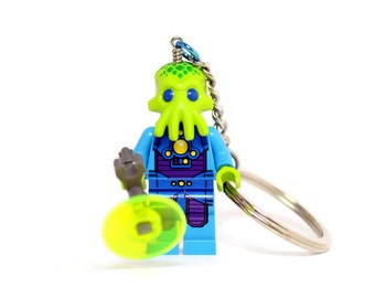 Alien Trooper Keychain made from Series 13 LEGO ® Minifigure