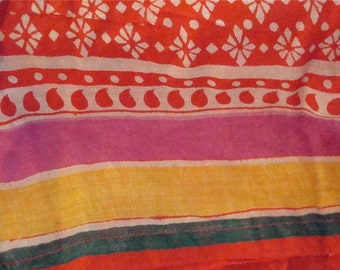skirt Vintage long India wrap around hippie maxi boho festival red lined
