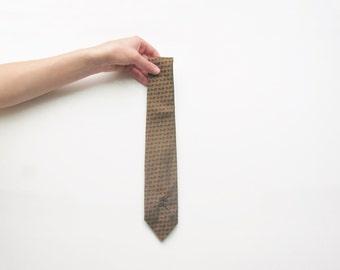 metallic bronze ox cart tie . oregon trail enthusiasts . Countess Mara necktie .sale s a l e