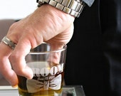 Personalized Whiskey Glasses, Groom Gift, Rocks Glasses, Groomsmen Gift Ideas, Personalized Low Ball Drinking Glasses, Bournon, Bachelor