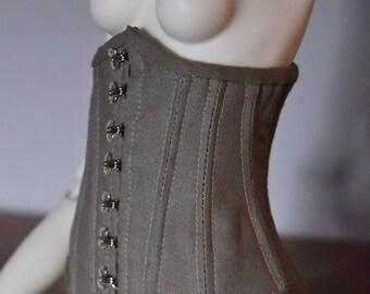Underbust two-parts corset for Bjd