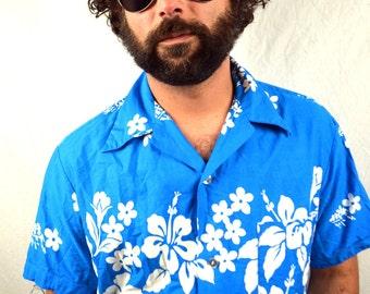 Men's 1960s 60s Vintage Hawaiian Shirt - Ui-Maikai