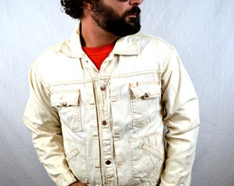 Vintage DEE CEE White Denim Jacket