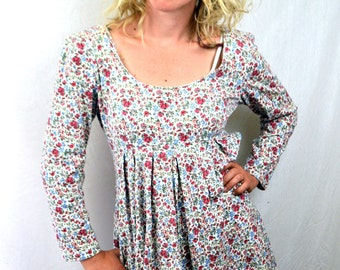 Vintage 90s Floral Mini Grunge Summer Dress by Spoiled Girls