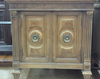 Nightstand Hollywood Regency Bedside Cabinet Vintage Custom PAINT to ORDER Poppy Cottage Painted Furniture
