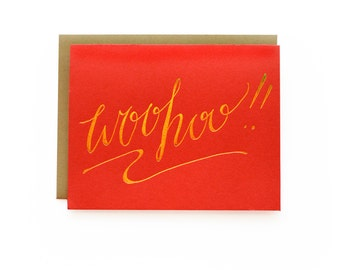 Woohoo! - letterpress card