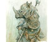 Rusty Rhino (print)