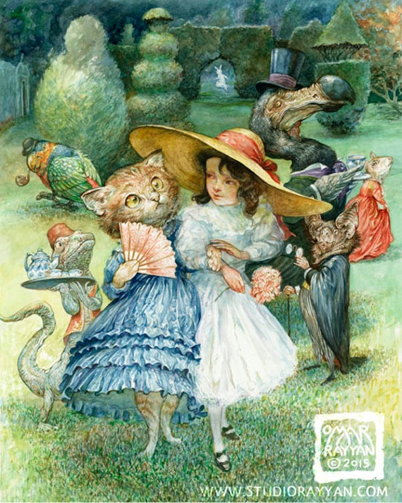 Now, Dinah... (print) - Alice in Wonderland