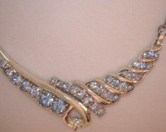 Necklace  Sapphire Blue Rhinestone