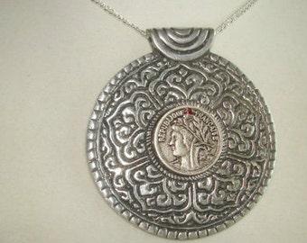 Coin Style Republique Francaise Silver Tone
