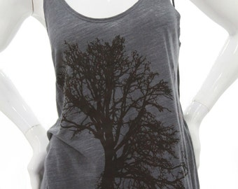 Oak tree| Women's slouchy tanktop| Art by MATLEY| Relax fit| Gift for her| Ohm| Yoga| Tree hugger| Sizes small - XXL| Summer top.