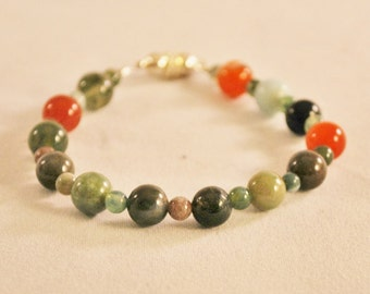 Shades of Jade Green Beaded Bracelet