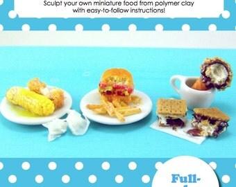 Miniature Tutorial - Dollhouse Miniature Summer Foods: Leftovers Edition (Dollhouse, Food Jewelry Tutorial eBook)