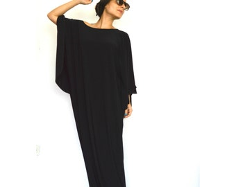 Maxi dress, Black off the shoulder dress, Oversize maxi dress, Off shoulder maxi dress, Black dress, Plus size dress, Plus size maxi dress