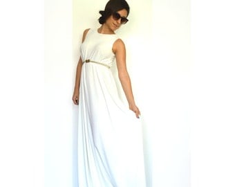 Women Maxi Dress, Bridesmaid Maxi Dress, White Maxi Dress, Evening Maxi Dress, Long Summer Dress