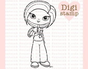 Sweet Nurse and Sweet Doctor Girl Digital Stamp Set for Card Making, Paper Crafts, Scrapbooking, Crafting, Handmade Cards, Coloring Pages