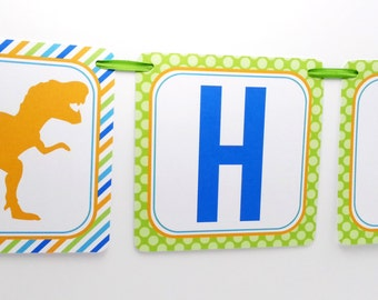 Dinosaur Party Banner, Dinosaur Birthday Banner, Dinosaur Banner, Dinosaur Party Decoration