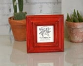 "4x4"" Square Photo / Picture Frame in Mulder Style and in Finish COLOR of YOUR CHOICE - Decorative Photo Frame 4x4"