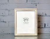 """8x10"""" Picture Frame in 1x1 Decorative Bumpy Style with Vintage White Finish - Can Be Any Color - 8x10 Rustic White Frame Handmade - 8 x 10"""""""