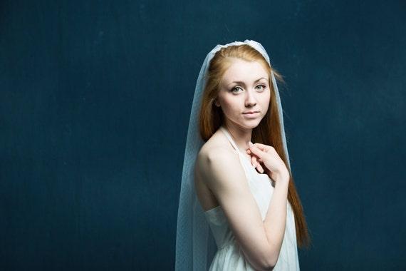 Bridal Veil, Swiss Dotted Veil, Wedding Veil, Point D' Esprit, Fingertip Veil, Long Veil, Chapel Veil, Cathedral Veil, Ivory Veil